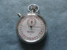 Vintage Chesterfield Dolmy 1/10 Swiss Mechanical Wind Up Stop Watch Stopwatch