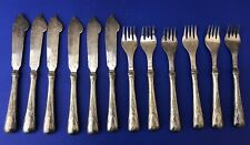 BEAUTIFUL ART NOUVEAU FISH SET WMF FORKS KNIVES DECORATED