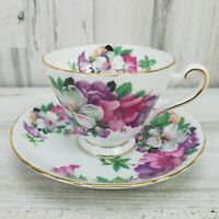 Tuscan Azalea Fine Bone China Cup and Saucer England Floral