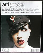 Art press 325 : Jean Nouvel Branly David Smith Hopper Debord Althusser Anders NM