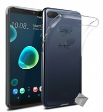 Housse etui coque gel fine HTC Desire 12+ Plus + film ecran TRANSPARENT TPU