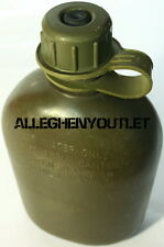 USGI US Army Military 1 QUART Hard Rigid Plastic 1QT CANTEEN, OD w NBC CAP VGC