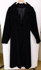 VGUC Pierrette B. Women's Size S Full Length Black Wool & Cashmere Overcoat MS