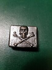1.34 Troy Ounce Hand Poured 999 Silver skull bar.