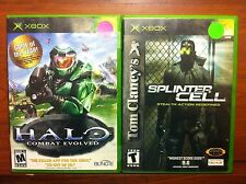 2 Xbox games Halo Combat Evolved & Splinter Cell Stealth Action Redefined XBOX