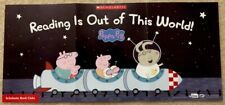 """New Mini PEPPA PIG Reading Poster: 7.25"""" x 16"""", Spaceship Rocket, In Space Trip"""