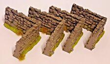 1/32 scale rustic stone wall carpet farm accessories X 4 CORNERS