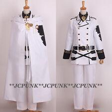 *JCPUNK* Seraph Of The End Hyakuya Mikaela Cosplay Costume Uniform Set