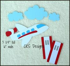 Die Cut Airplane Travel Plane Vacation Scrapbook Embellishment Paper Piecing CKS