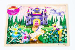 Melissa & Doug Fairy Fantasy Kids Wooden Jigsaw Puzzle 48 PC #3804