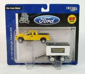 Ford F-150 Pickup Truck With Pup Grain Trailer Chase Farm Systems By Ertl 1/64