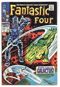 Fantastic Four 74 Silver Surfer app! Kirby Lee 1968 Marvel Comics B627