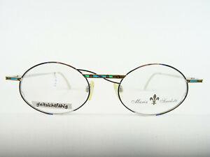 Damenbrille Metallgestell Markenbrillen oval silber bunt gleitsichtfähig Gr. L