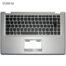 For LENOVO YOGA 2 13 Yoga2-13 Silver Palmrest Backlit UK Keyboard