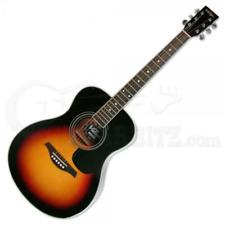 Vintage V300 Acoustic Folk Guitar - Sunburst