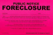 Humiliating Prank Sign - PUBLIC NOTICE - FORECLOSURE