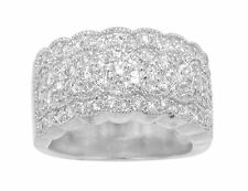 2.00 ct Women's Round Cut Diamond Anniversary Ring With Miligrain In 14 kt