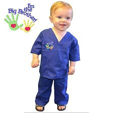 Kids Scrubs Big Brother Royal Blue Expectant Mother Gift Doctor Nurse