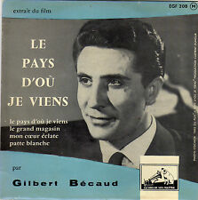 GILBERT BECAUD BOF LE PAYS D'OU JE VIENS FRENCH ORIG EP OST