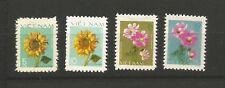 4 timbres sans gomme Vietnam 1978 Y&TN°110/113 fleurs du vietnam /T6212