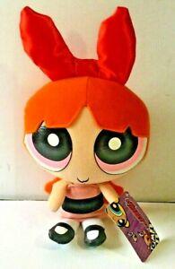 "New Nanco THE POWERPUFF GIRLS Blossom Plush Doll Cartoon Network Orange 10"""