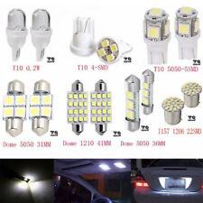 14Pcs LED White Car Inside Light Kit Dome Trunk Mirror License Plate Bulbs Lamp