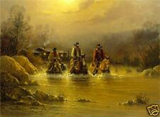 EARLY RIDERS 18 x 24 Edition fo 1250 1989 by G. Harvey