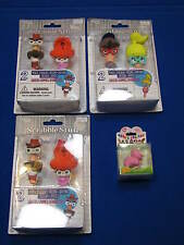 NEW Write Dudes Scribble Stuff Stackable Pencil Eraser Cowboy Lady Beanie Ty Pig