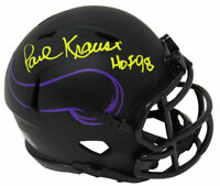 Paul Krause Signed Vikings Eclipse Riddell Speed Mini Helmet w/HOF'98 - SCHWARTZ
