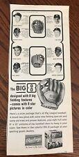 RAWLINGS BIG 8 GLOVE AND BOX VINTAGE BASEBALL GLOVE AD MANTLE BOYER SPAHN