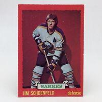 1973 74 OPC O Pee Chee Jim Schoenfeld 86 Buffalo Sabres Hockey Card E634