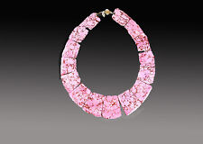 SALE - BESS HEITNER SPRING 2016 PINK HOWLITE FITTED COLLAR NECKLACE - ONE LEFT