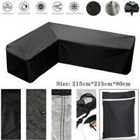 215x215x80cm L Shape Sofa Cover Patio Outdoor Garden Furniture Couch Protector