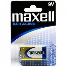 1 PILA ALCALINA 9V 6LR61 MAXELL BATTERY BLOCK MN1604 6F22 1604S 6LF22 TRANSISTOR