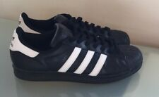 Adidas Mens Trainers Size 8 Black Superstar Foundation Shoes EUC