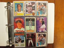 Lot of  500 CAL RIPKEN JR.  Baseball  Cards(1982-2001/in  Clear  sheets/Notebook