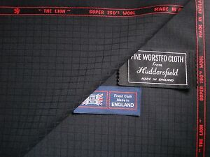 100%SUPER 150's WOOL< THE LION >SUITING FABRIC MADE IN HUDDERSFIELD ENGLAND-3.4m