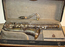 "1921 True Tone - Buescher ""C"" Melody Low Pitch Sax SN 68505  Nice Shape PROJECT"