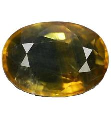 BLUE SAPPHIRE & yellow. 2.20 ct. I2. Bangkaja, Chanthaburi, Thailand With Certif