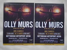 "OLLY MURS Live in Concert ""24 HRS"" UK Arena Tour 2017 Promo flyers x 2"