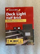 Malibu Lighting Deck Light Half Brick Metal Fixture Black Finish NEW with Bulb