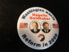 Washington Reform Party Pin Back 2000 Presidential Campaign Button Hagelin