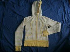 Lululemon Hoodie Women Sz 4 Scuba Yellow Gray Hoody Pockets Lined Cotton