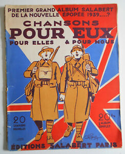 Ancienne partition- Chansons pour eux, pour elles, pour nous Album SALABERT 1939
