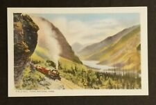 Mint Canada CPR Train Field Hill Yoho National Park Real Color Picture Postcard