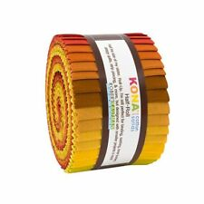 "KONA Cotton Solids Autumn Hues Half Roll 2.5"" Fabric Quilting Strips HR-144-24"