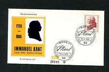 BRD nº 806 FDC Kant (eb-11)