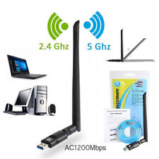 RTL8812 Chipset 1200Mbps 2.4GHz/5GHz 802.11ac WiFi USB Adapter Dongle Antenna