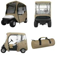 Fairway Short Roof 2-Person Car Golf Cart Rain Cover Enclosure Storage Accessory