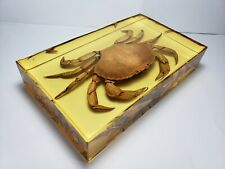 CANCER IRRORATUS CRAB. Atlantic rock crab ( Peekytoe crab ) in yellowish resin